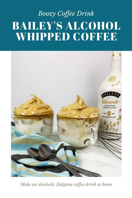 Bailey's Alcoholic Dalgona Coffee Drink Recipe in 2020