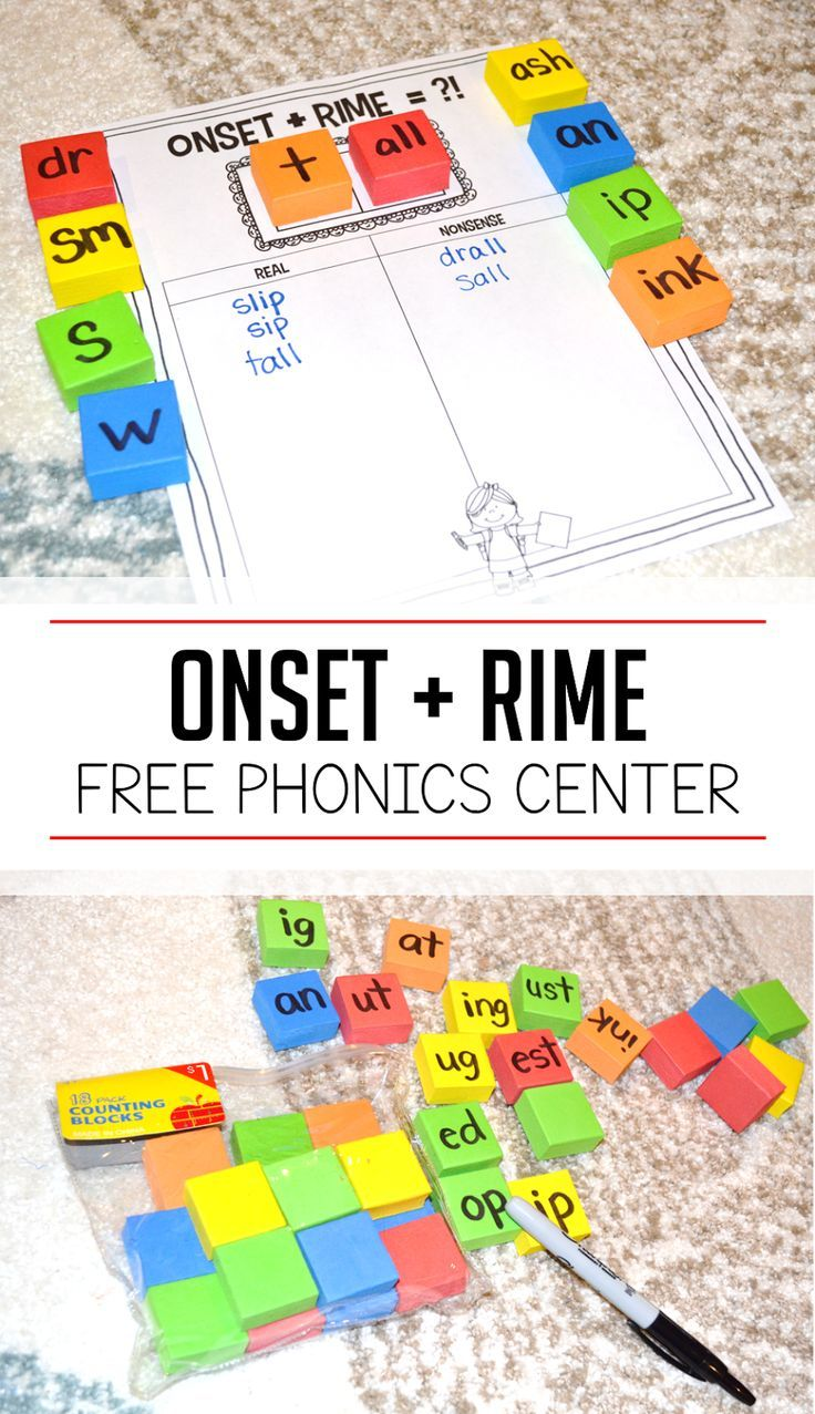 Photo of Cheap n' Easy Phonics Center – Onset and Rime Activity – Susan Jones