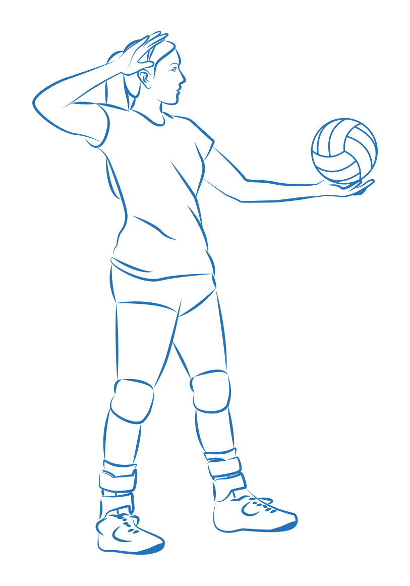 Player Preparing To Serve A Volleyball Overhand Volleyball Volleyball Skills Serve