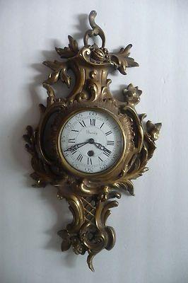 Antique Late 19thC Louis XVI Style French Bronze Buney Cartel Wall Clock | eBay