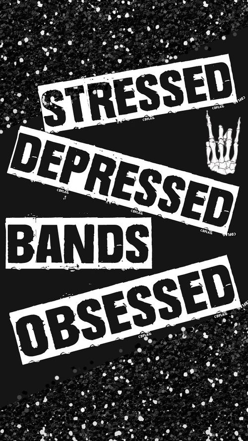 Bands Black And White And Punk Rock Image