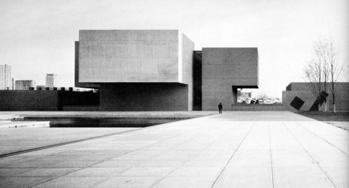 wmud:  i m pei and partners, pederson, hueber, hares and glavin - everson museum of art, syracuse, 1962