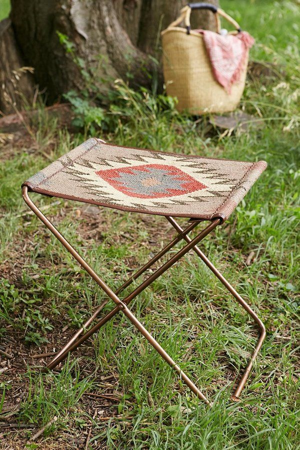 Kilim Folding Sling Stool For The Home Furniture