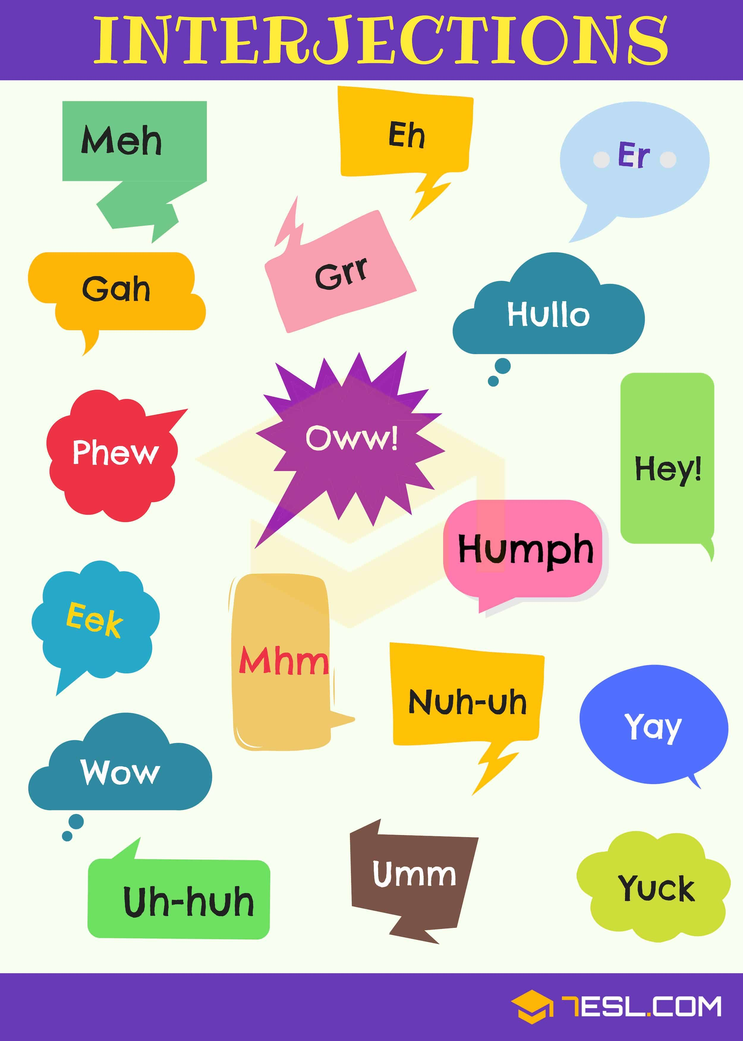 List Of 60 Interjections With Definition Amp Useful