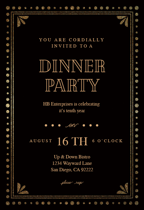 fancy night invitation template customize add text and photos