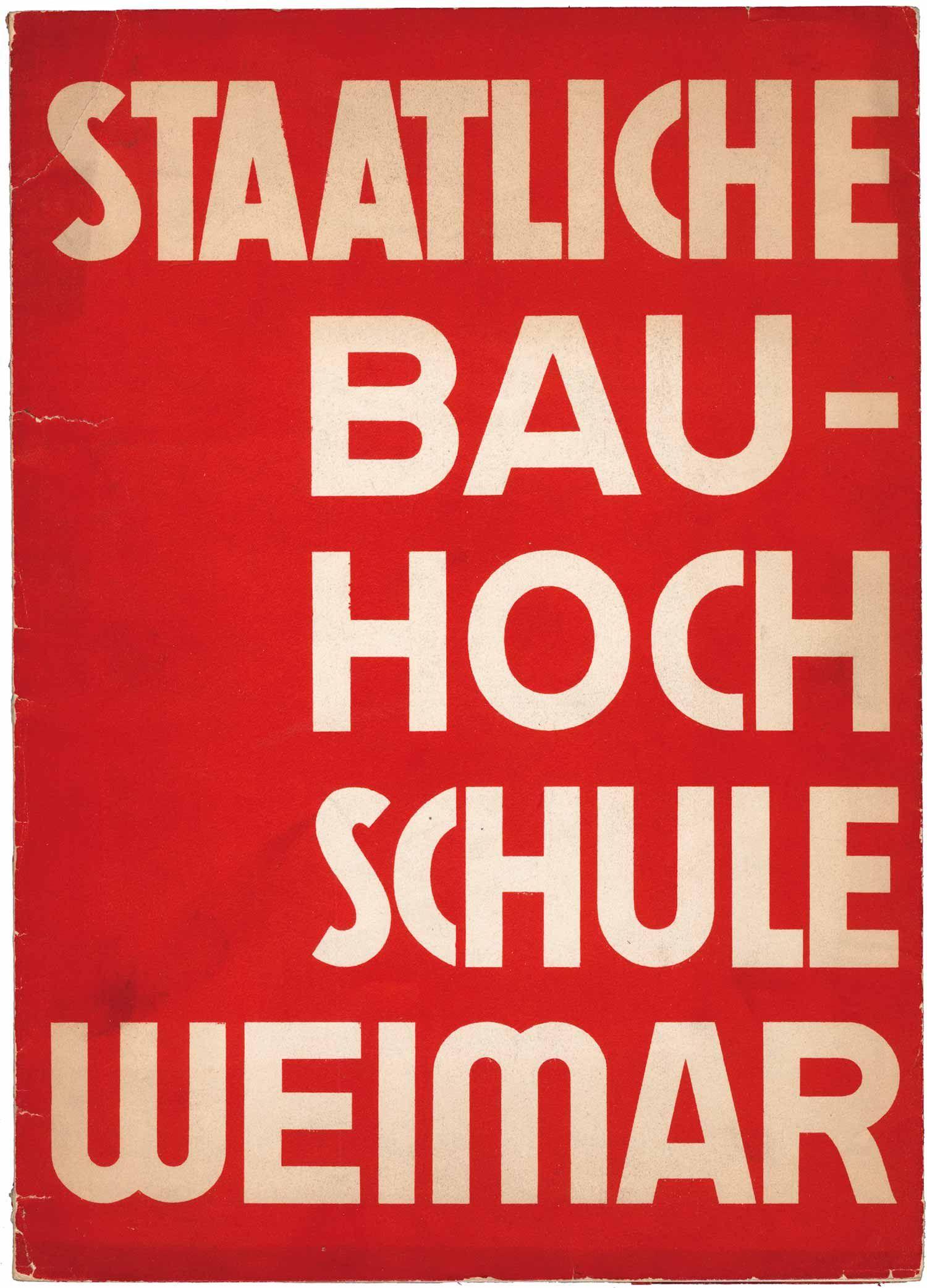 Werner Graeff, Staatliche Bauhochschule Weimar 1929 ...