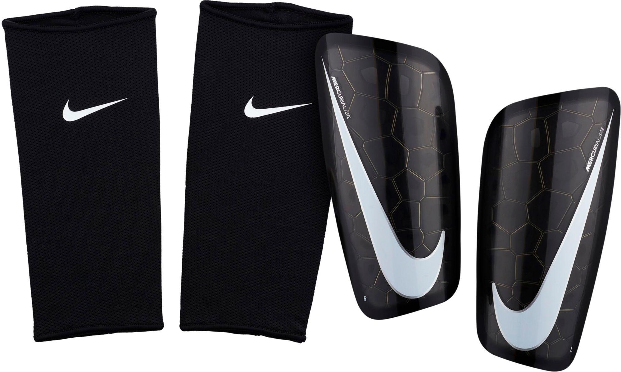low priced ebc9d 2cb1a Nike Adult Mercurial Lite Soccer Shin Guards, Black