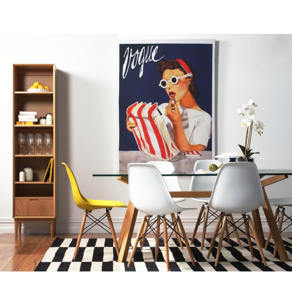 The Matt Blatt Replica Eames DSW Side Chair Plastic by Charles
