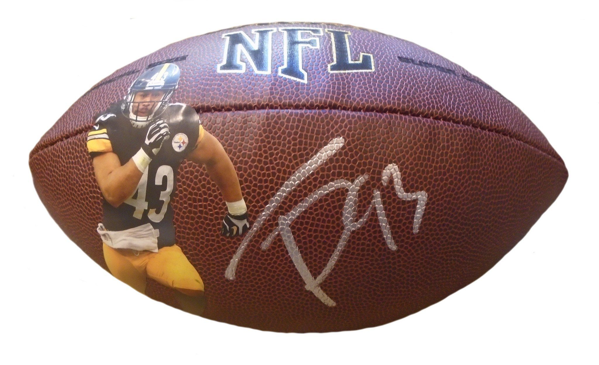 cc7c20b617d Troy Polamalu Autographed NFL Wilson Pittsburgh Steelers Photo Football