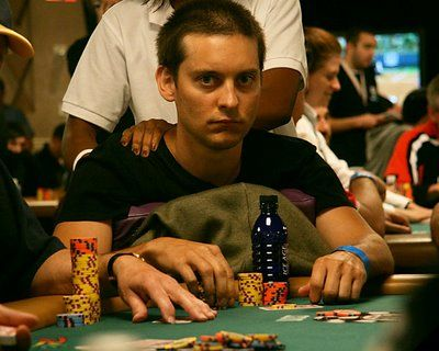 Spider-Man star Tobey Maguire is often found at high stakes poker games.