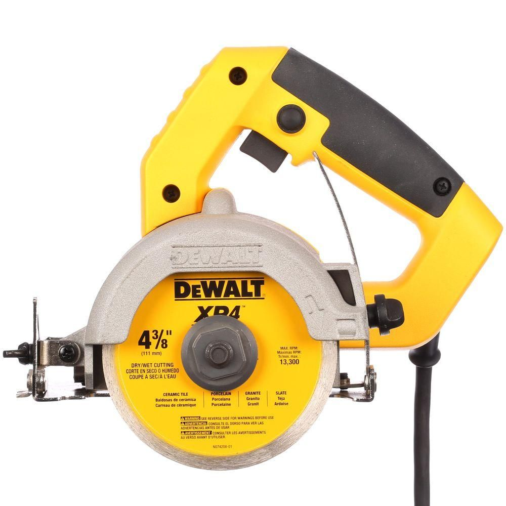 Dewalt 4 3 8 In Wet Dry Hand Held Tile Cutter Dwc860w The Home Depot Tile Cutter Dewalt Dry Hands