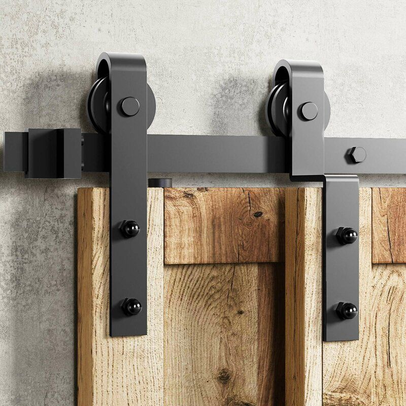 Classic Design Single Bypass Barn Door Hardware Kit In 2020 Bypass Barn Door Barn Door Hardware Bypass Barn Door Hardware