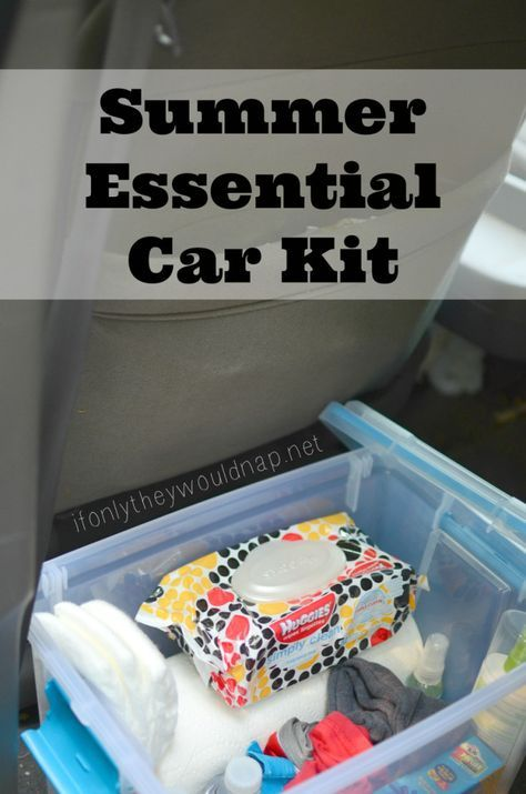 Create your own Summer Essential Car Kit