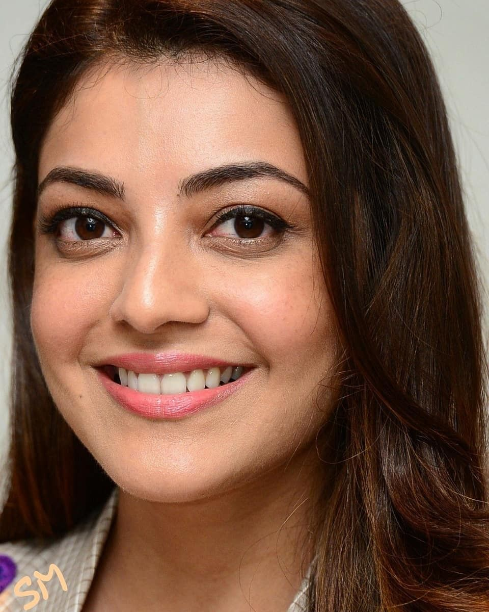 Kajal Aggarwal Beauty Girls Face Most Beautiful Faces Long Hair Styles
