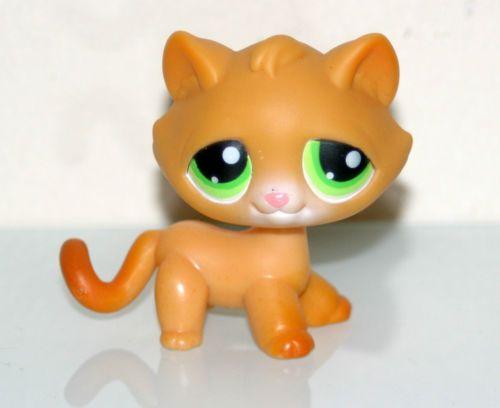 Details About Littlest Pet Shop Lps Toys 1120 Orange Short Hair Cat