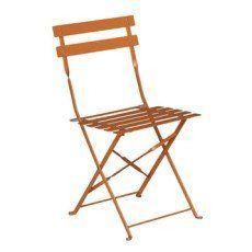 Chaise De Jardin En Acier Flore Couleur Orange Chaise De