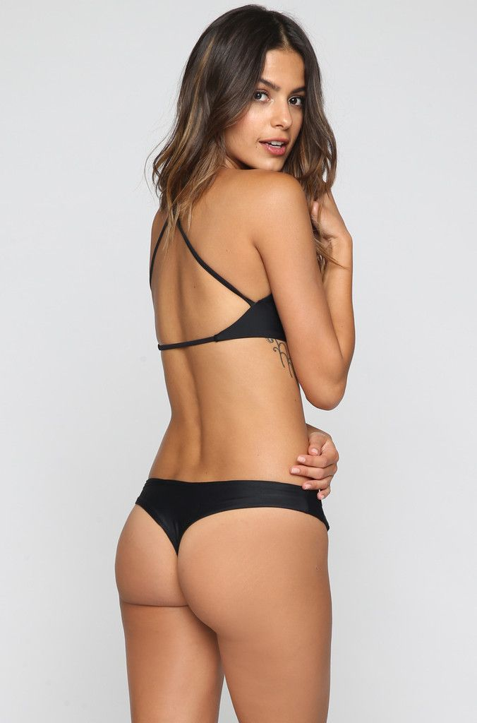 Stone Fox Swim Namena Bikini Top in Onyx ISHINE365 - 2   Sybaritic