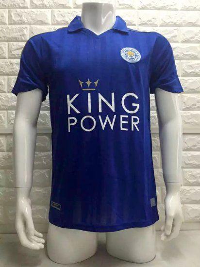 b9e6428c2 Leicester City 16-17 Cheap Home Blue Soccer Jersey  E169