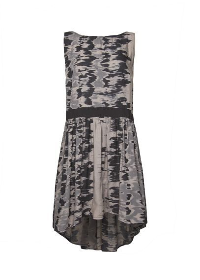 MANGO - Robe imprimé asymétrique