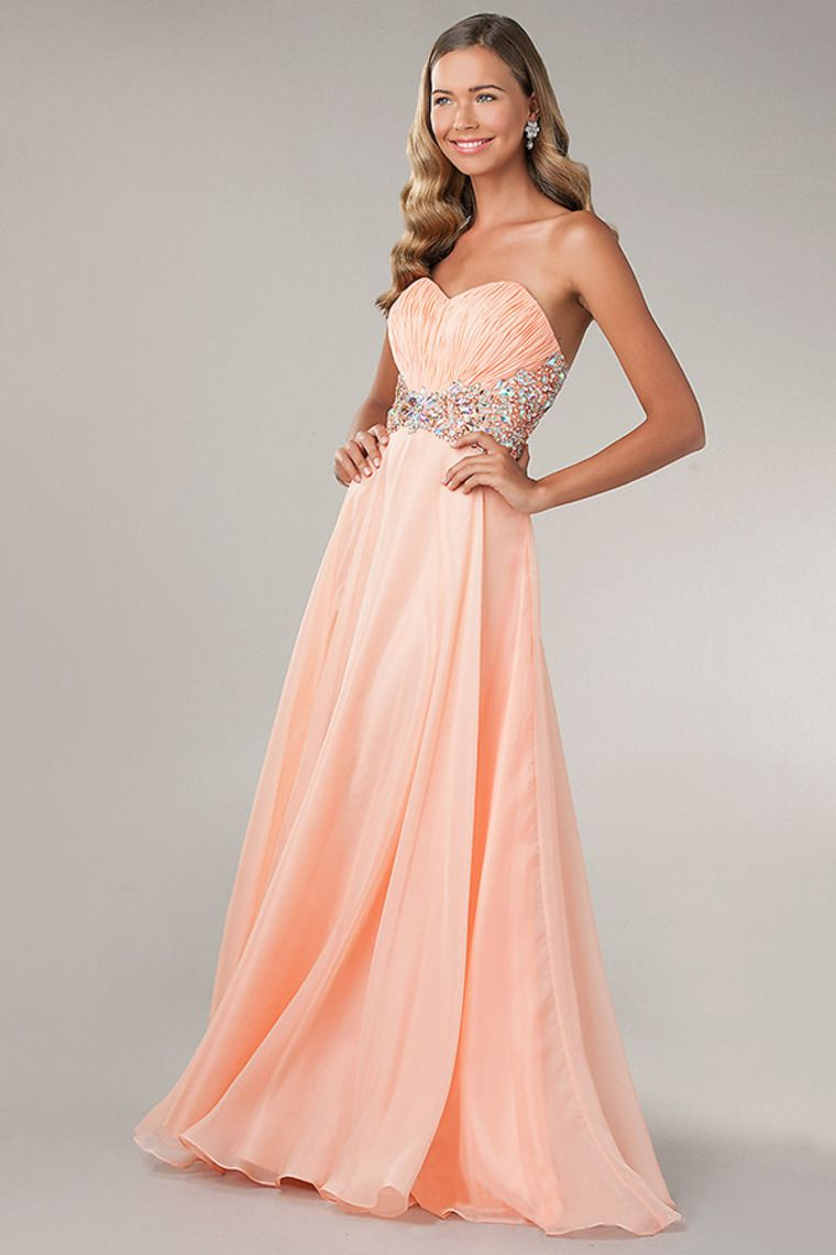 sweetheart pleated bodice prom dress beaded waist a line with