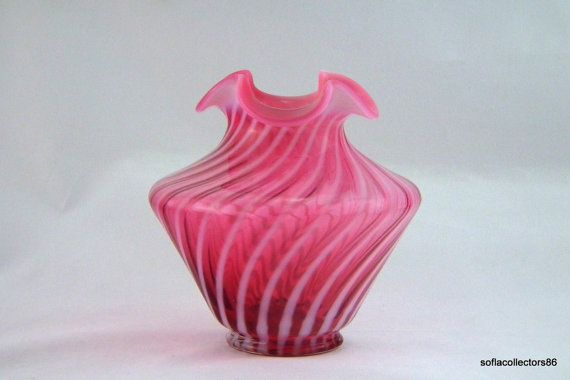 Fenton 3001 / 3160 CR Cranberry Opalescent by soflacollectors86