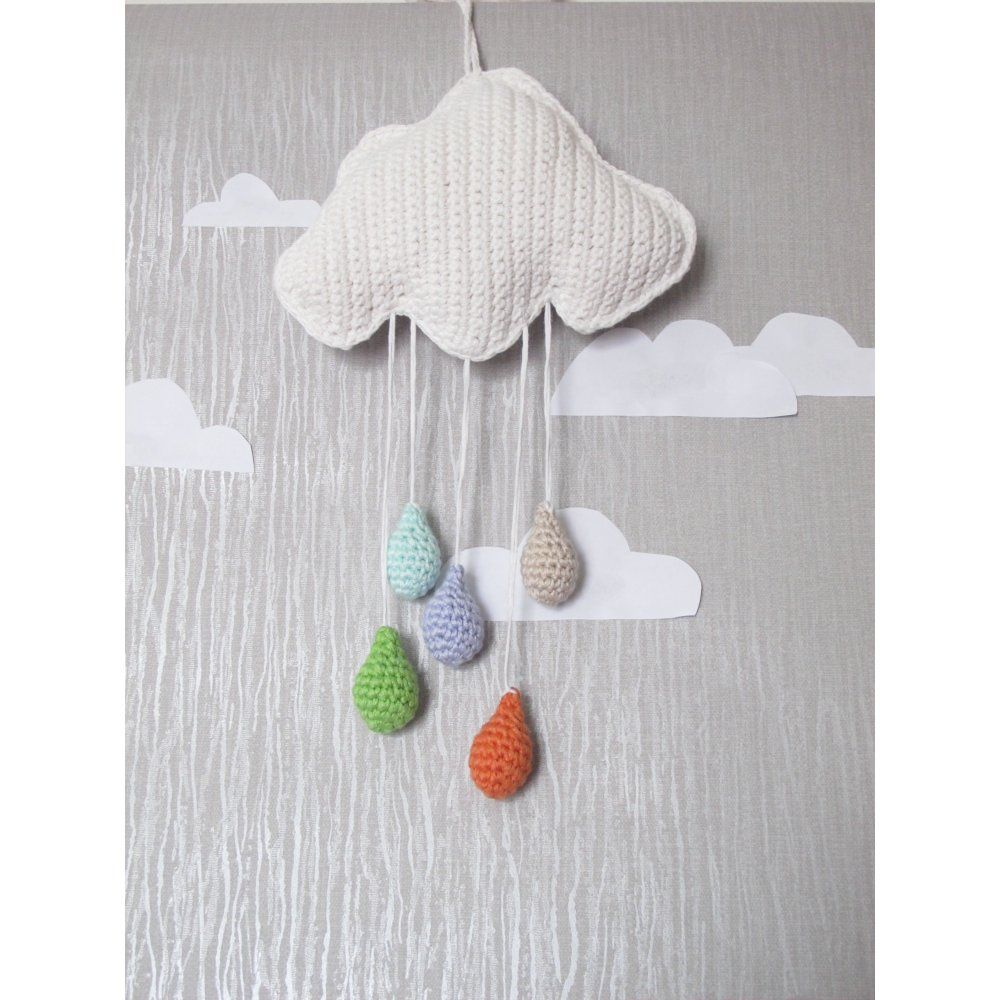 Attics adorable hand crochet cloud wall hanging is a lovely piece attics adorable hand crochet cloud wall hanging is a lovely piece to incorporate into your childs amipublicfo Gallery