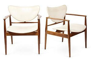 One Kings Lane - Furniture, Accents & Jewelry - Finn Juhl Armchairs, Pair