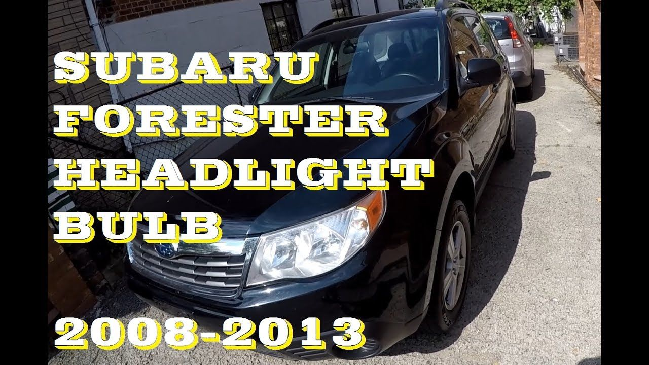How To Change Replace Headlight Bulb In Subaru Forester