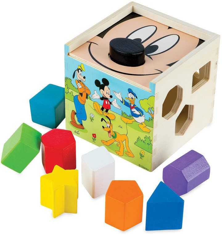 Disney Mickey Mouse and Friends Wooden Shape Sorting Cube ...