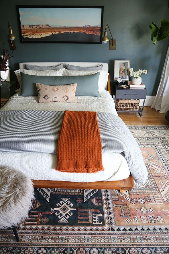 Photo of Bedroom Color –  Cozy bedroom decor and bedding – Green Bedroom Reveal – Jun…