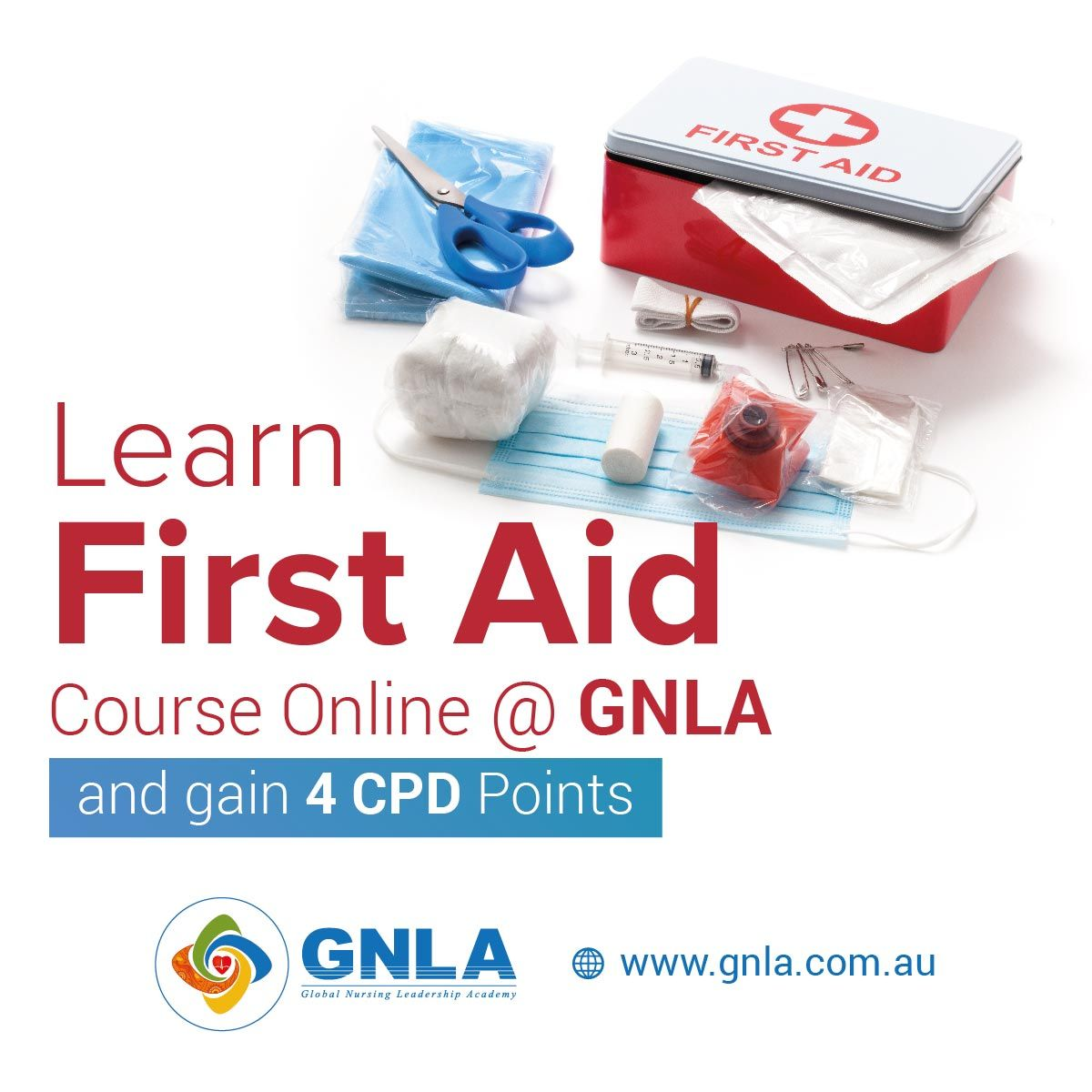Study First Aid Course Online @ GNLA And Gain 4 CPD Points
