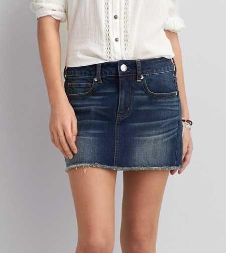 Minifalda de mezclilla AEO  c5fc89cb9095