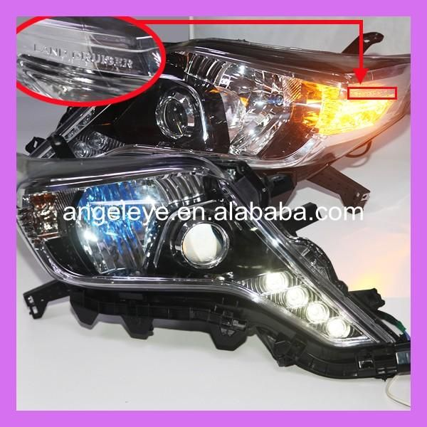 For Toyota for Prado FJ150 Land Cruiser 2014-2015 Year LED Headlights Head Lamp Low Beam with LED DEBO