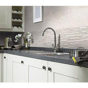 White Kitchen Wall Tiles wickes battersea splitface white ceramic wall tile 298x498mm
