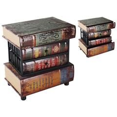 WOODEN/PU LEATHER BOOK COMMODE 50X34X54