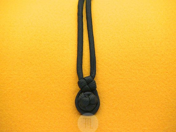 pochette case  yellow felt and black paracord by FMLdesign on Etsy, €37.00