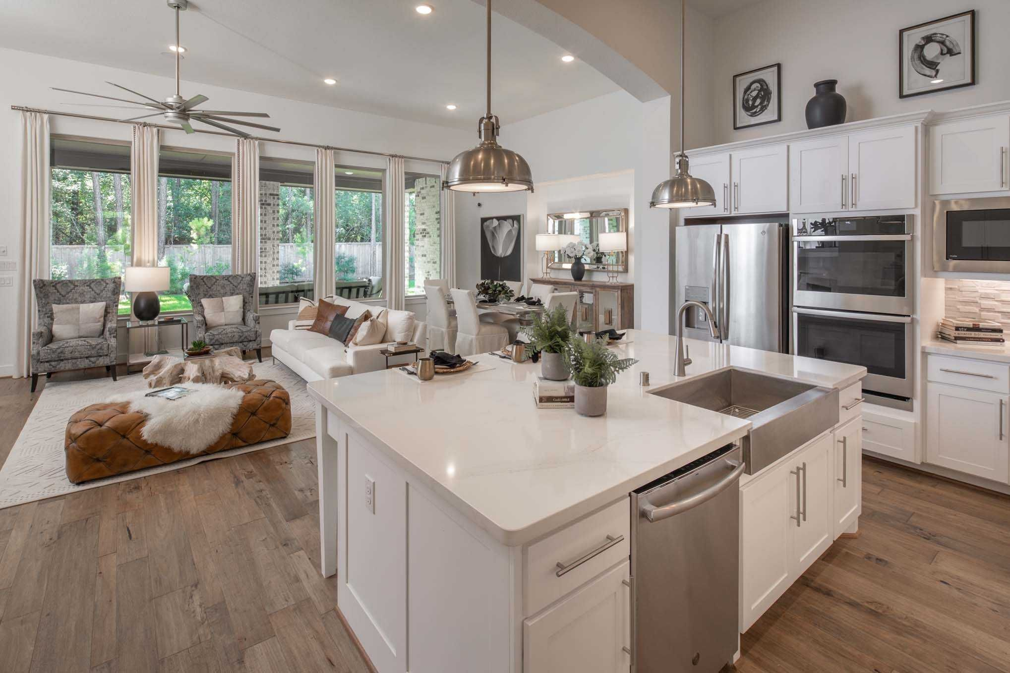 Highland Homes 272 Plan Conroe Tx The Woodlands Hills Community Kitchen Highland Homes New Home Builders Home