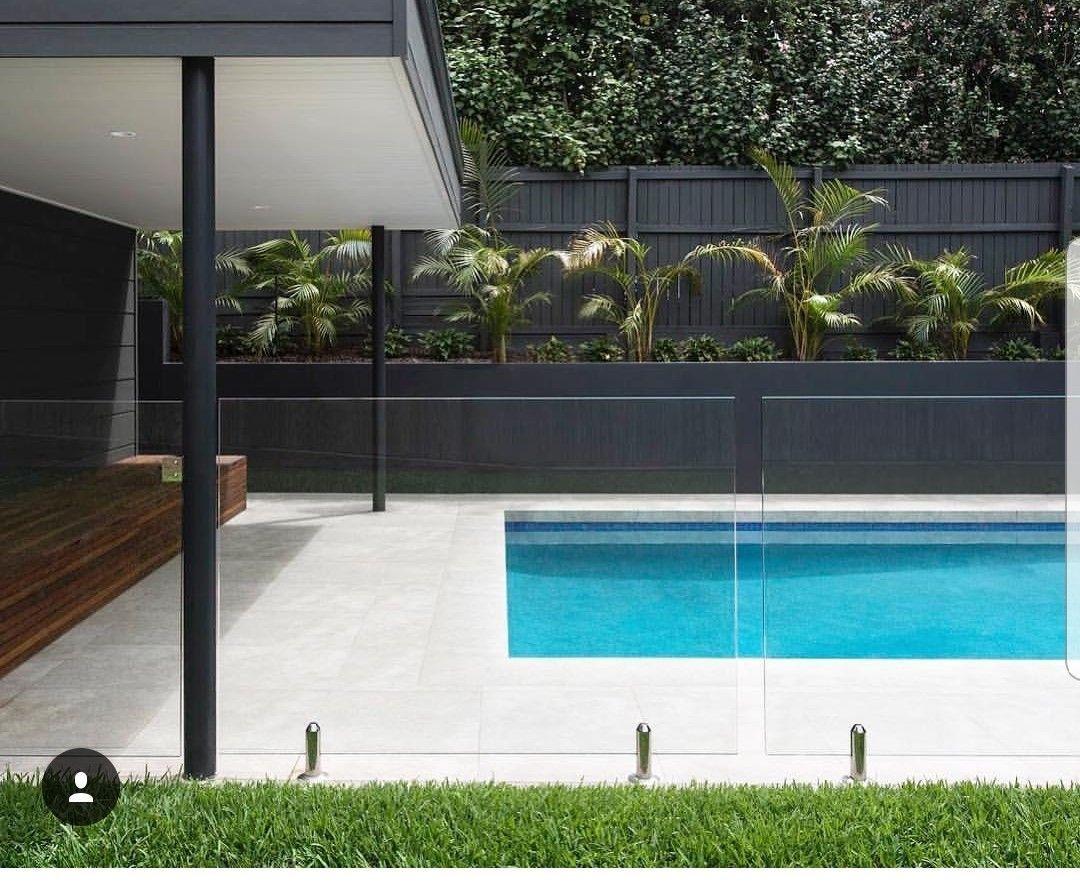 Glass Fence Around Pool Pool Houses Pool Pavers Swimming Pools Backyard