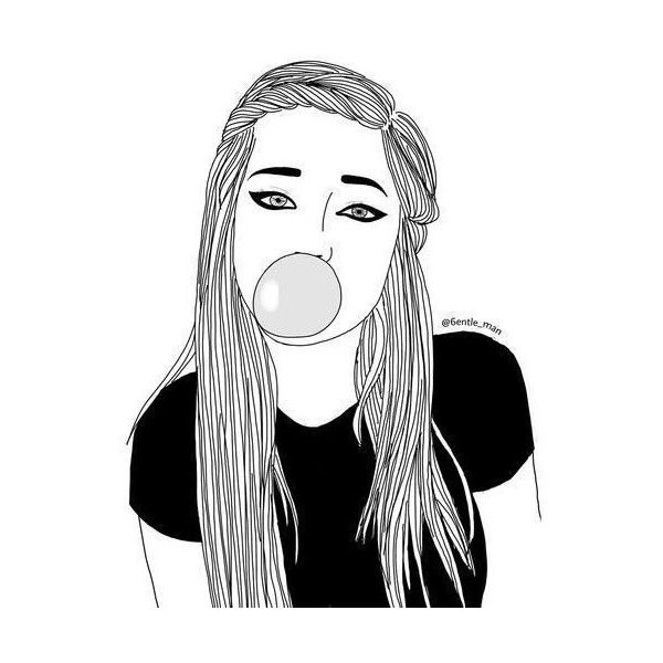 Art girl drawing We Heart It  liked on Polyvore featuring