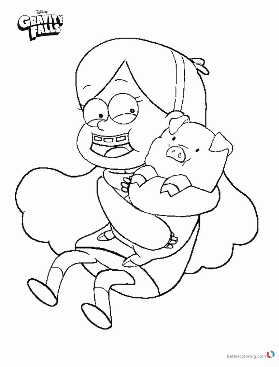 Gravity Falls Coloring Book Awesome Gravity Falls Coloring Pages Mabel And Waddles Free In 2020 Fall Coloring Pages Cat Coloring Book Coloring Books