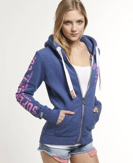 Superdry Sweat à capuche zippé Track & Field | Capuche zippé