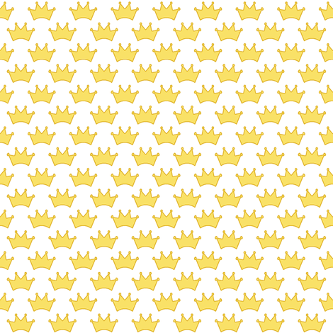 little gold crowns fabric by weavingmajor on Spoonflower - custom fabric