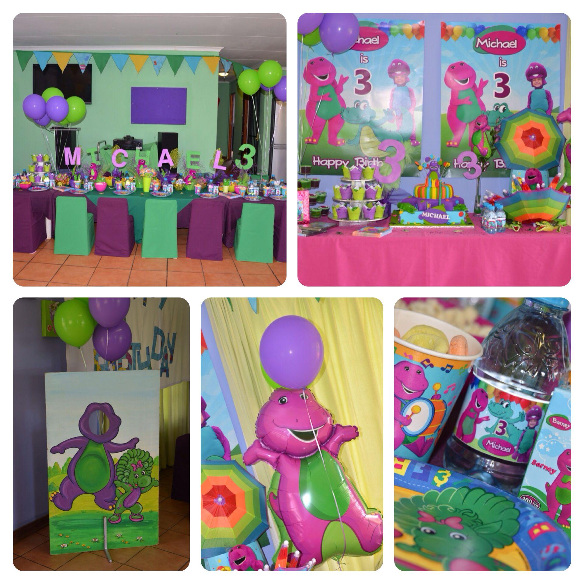 Barney & Crocodile theme party | Inspiration // kids character ...
