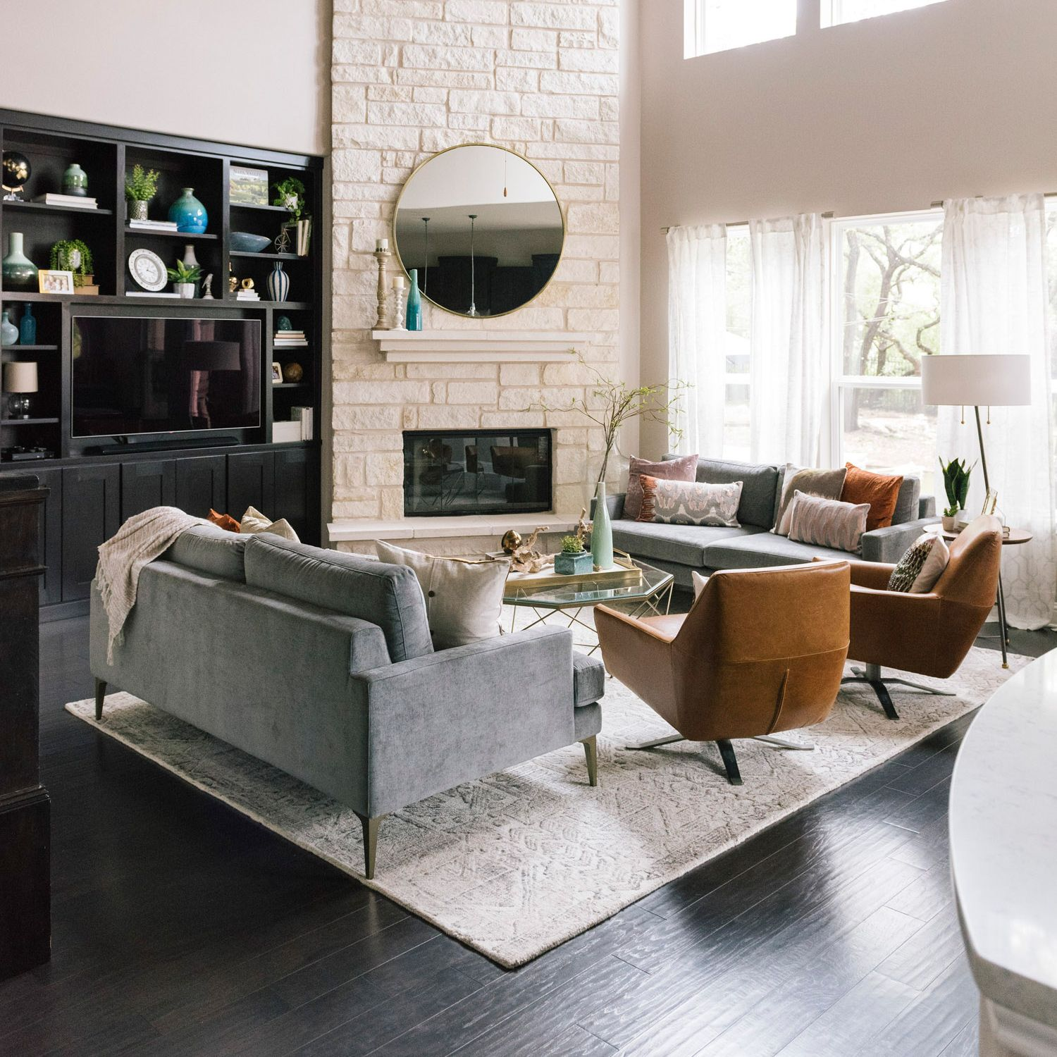 How To Make Two Sofas Work In Your Living Room Front Main Living Room Seating Living Room Leather Livingroom Layout