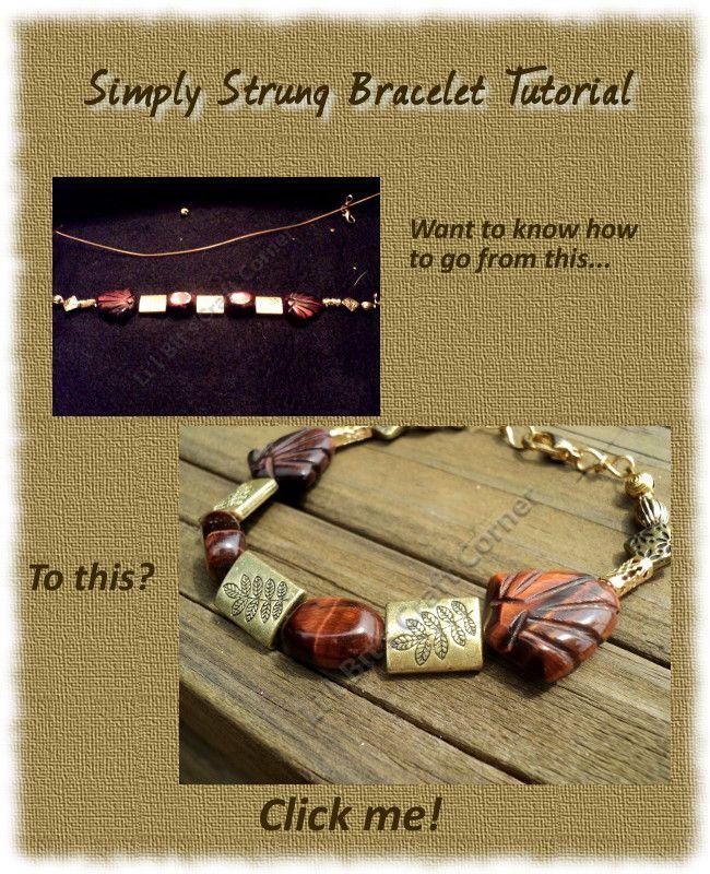 #BraceletTutorial Gold and Tiger Eye http://lilbitscc.wordpress.com/category/stringing-tutes/ #Gold #TigerEye