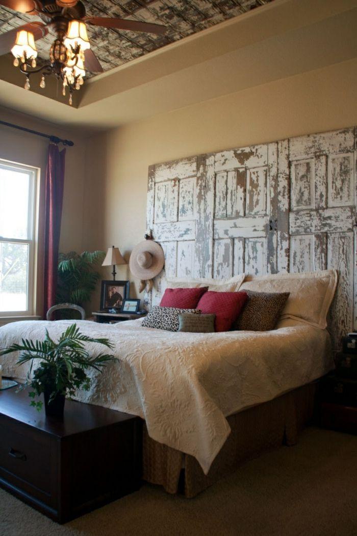 Plusieurs idées pour faire une tête de lit soi-même | Portes de ...