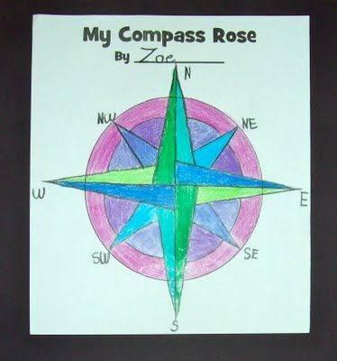 compass rose - at home project, so cool! allows for creativity ...