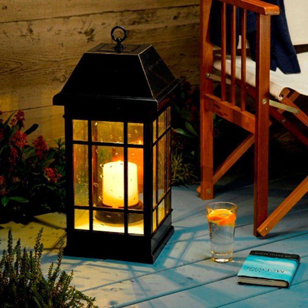 Hanging outdoor candle lanterns for patio - This Beautifully Crafted Solar Lantern Brings A Pleasant Ambience Ideal For Your Patio Deck Or Garden As A Stylish Mission Style Lantern Made From All