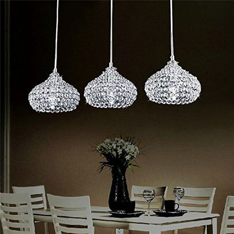 DINGGU™Chrome Finish Modern 3 Lights Crystal Chandelier Pendant Lighting for Dining Room DINGGU http://www.amazon.com/dp/B0168SXIHE/ref=cm_sw_r_pi_dp_65NNwb03MY82S