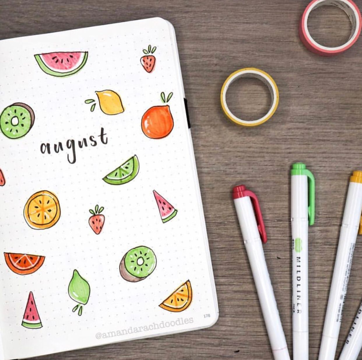 25 Creative Fruit Bujo Spreads